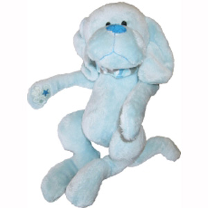 "Puppy Hem and Boo 8.5"" (22cm) Super Soft Toy - Blue"